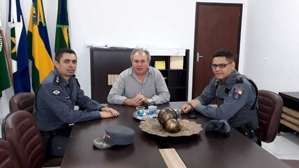 Prefeito Valtinho e novo Comandante do CR15 debatem Segurança Pública