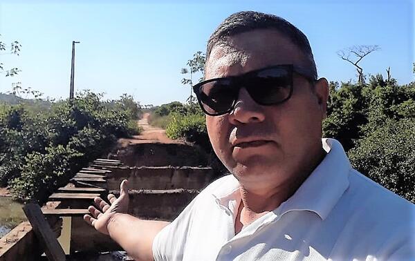 Ponte do Rio Sangrão será reconstruída afirma vereador Joranir Soares