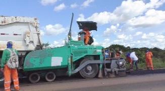 Trecho da BR-163 entre Matupá e Guarantã do Norte está sendo recuperado
