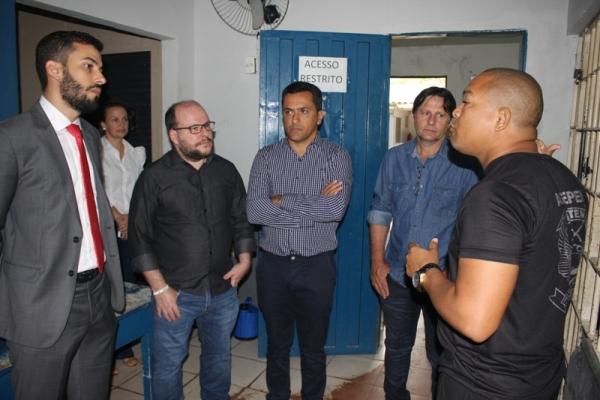 Comissão de Vereadores visita Unidade Prisional a convite do MPE