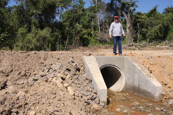 Obras Estruturantes na Estrada Divisa Norte de Matupá