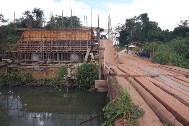 Ritmo acelerado obra de construção da Ponte do Rio Porcão na MT-322