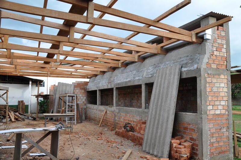 Obras de construção de Churrasqueiras e Casa de Carne no Clube Tia Celina