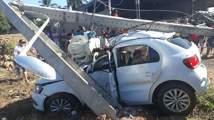 Grave acidente registrado na paralela da BR-163 em Peixoto