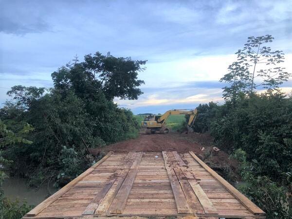 Ponte na Linha do Morto em Guarantã do Norte foi reconstruída