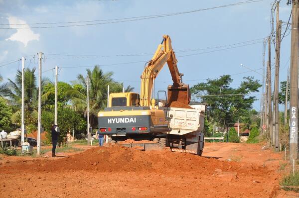Terraplenagem para pavimentação Ruas 04 e 05 Setor Industrial de Matupá